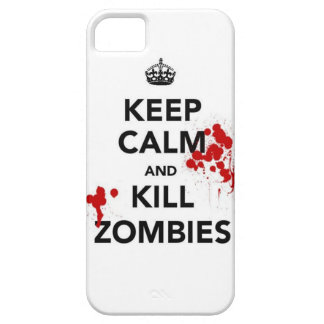 keep calm and kill zombies phone case iPhone 5 cases