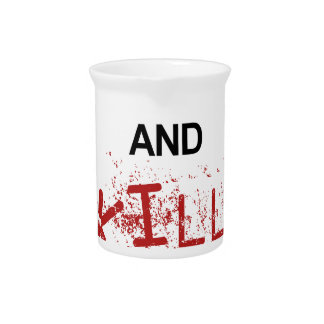 Keep Calm And Kill Zombies Pitcher