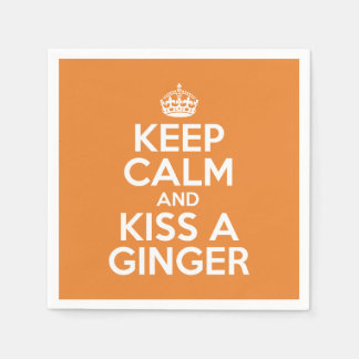 Keep calm and kiss a ginger paper napkins