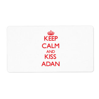 Keep Calm and Kiss Adan Shipping Labels