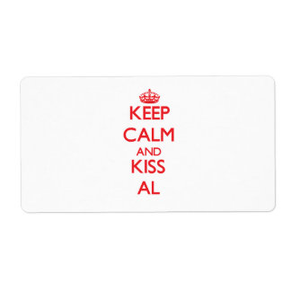 Keep Calm and Kiss Al Personalized Shipping Labels