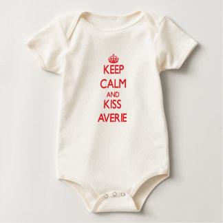 Keep Calm and kiss Averie Baby Bodysuit