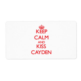 Keep Calm and Kiss Cayden Shipping Label