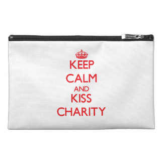 Keep Calm and Kiss Charity Travel Accessories Bag