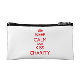 Keep Calm and kiss Charity Cosmetic Bag