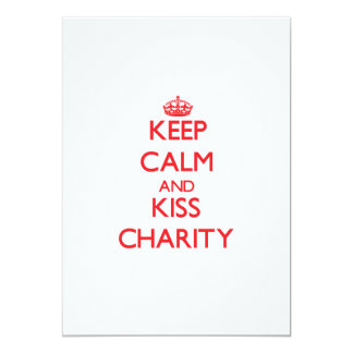 Keep Calm and kiss Charity Invites
