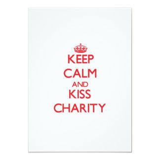 Keep Calm and Kiss Charity Custom Announcement
