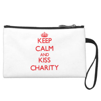 Keep Calm and Kiss Charity Wristlet Clutches