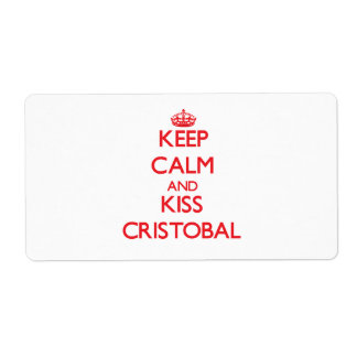 Keep Calm and Kiss Cristobal Shipping Label