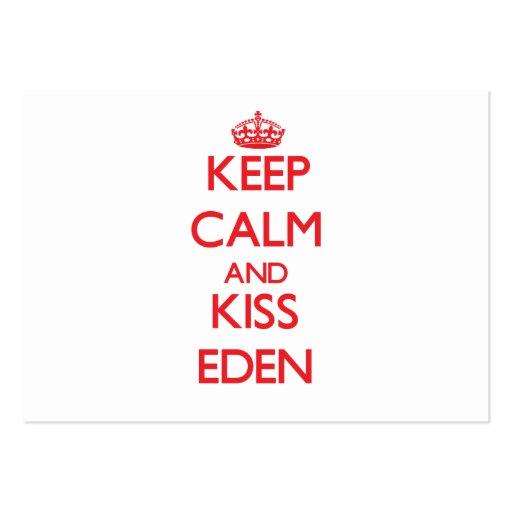 Keep Calm and Kiss Eden Business Card Template