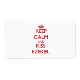 Keep Calm and Kiss Ezekiel Custom Shipping Label