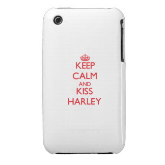 Keep Calm and kiss Harley iPhone 3 Case-Mate Cases