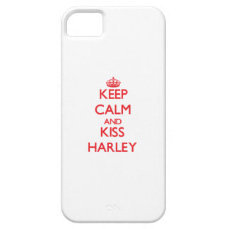 Keep Calm and kiss Harley iPhone 5 Covers