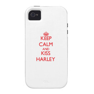 Keep Calm and kiss Harley Vibe iPhone 4 Cases