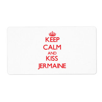 Keep Calm and Kiss Jermaine Personalized Shipping Label