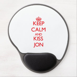 Keep Calm and Kiss Jon Gel Mouse Pad