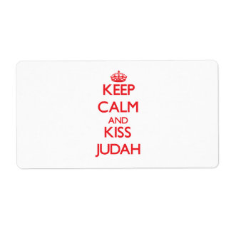 Keep Calm and Kiss Judah Labels
