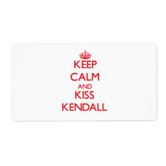 Keep Calm and Kiss Kendall Shipping Label