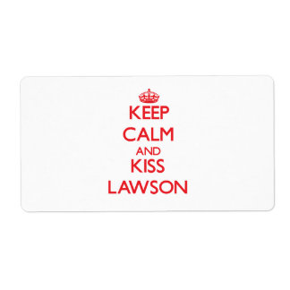 Keep Calm and Kiss Lawson Custom Shipping Label