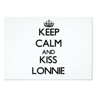 """Keep Calm and Kiss Lonnie 5"""" X 7"""" Invitation Card"""