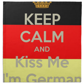keep-calm-and-kiss-me-i-m-german napkin