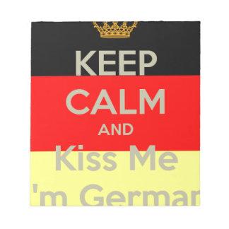 keep-calm-and-kiss-me-i-m-german notepad