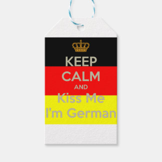 keep-calm-and-kiss-me-i-m-german pack of gift tags