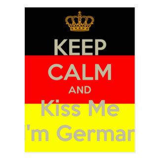 keep-calm-and-kiss-me-i-m-german postcard