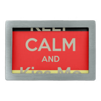 keep-calm-and-kiss-me-i-m-german rectangular belt buckles