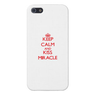 Keep Calm and Kiss Miracle Case For iPhone 5