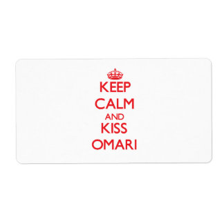 Keep Calm and Kiss Omari Personalized Shipping Label