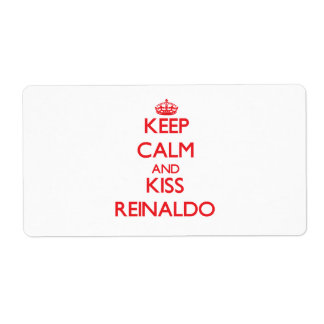 Keep Calm and Kiss Reinaldo Personalized Shipping Labels