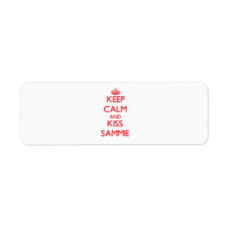 Keep Calm and Kiss Sammie Return Address Label
