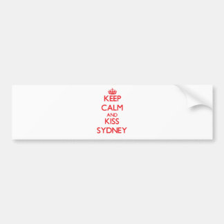 Keep Calm and kiss Sydney Bumper Stickers