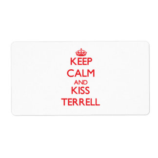Keep Calm and Kiss Terrell Custom Shipping Label