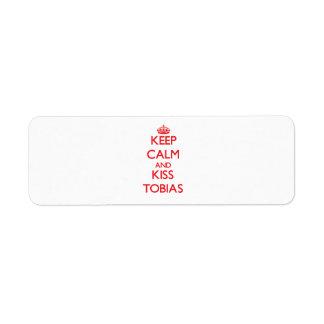 Keep Calm and Kiss Tobias Custom Return Address Label