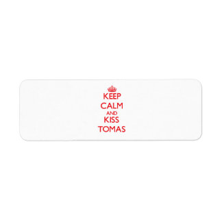Keep Calm and Kiss Tomas Labels