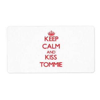 Keep Calm and Kiss Tommie Custom Shipping Labels