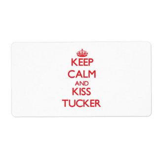 Keep Calm and Kiss Tucker Custom Shipping Label