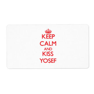 Keep Calm and Kiss Yosef Labels