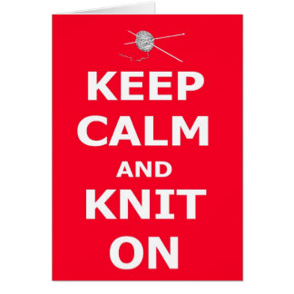 Keep calm and knit on - Happy Birthday personalise Card