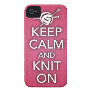 Keep Calm and Knit On iPhone 4 Case