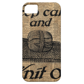Keep Calm And Knit On iPhone 5 Cases