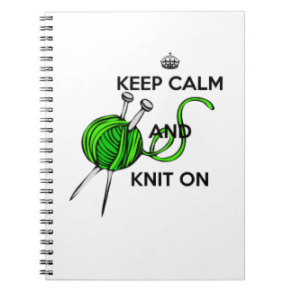 Keep Calm and Knit On Spiral Notebook