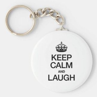 KEEP CALM AND LAUGH KEYCHAIN