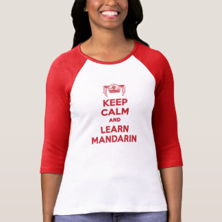 Keep Calm and Learn Mandarin Ladies Long-Sleeve T-Shirt