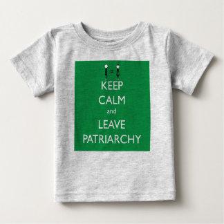 Keep Calm and Leave Patriarchy Tee Shirt