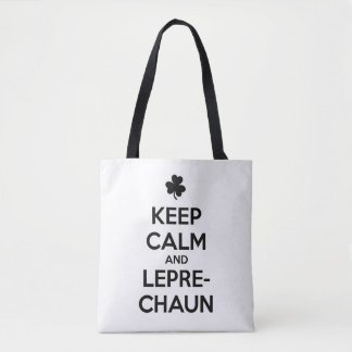 KEEP CALM and LEPRECHAUN Tote Bag