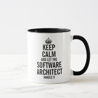 Keep calm and let the software architect handle it mug