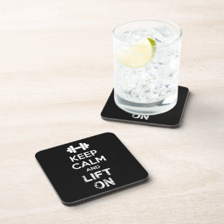 Keep Calm and Lift On - Workout Motivational Coaster